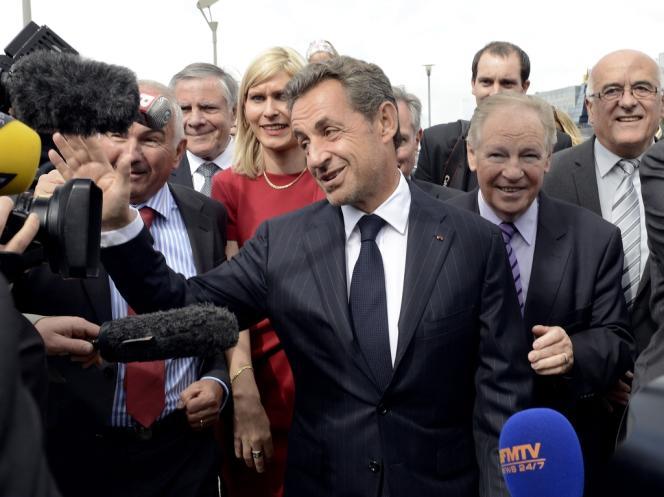 Nicolas Sarkozy a fait sa rentrée politique en Haute-Savoie, où il a rencontré des parlementaires locaux, à Archamps, le 18 septembre.