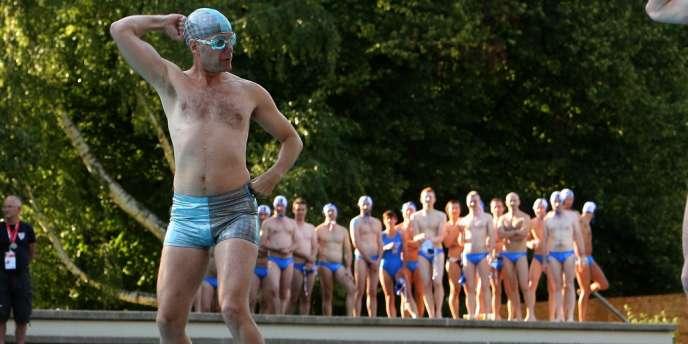 En août 2010, lors des Gay Games à Cologne, en Allemagne.