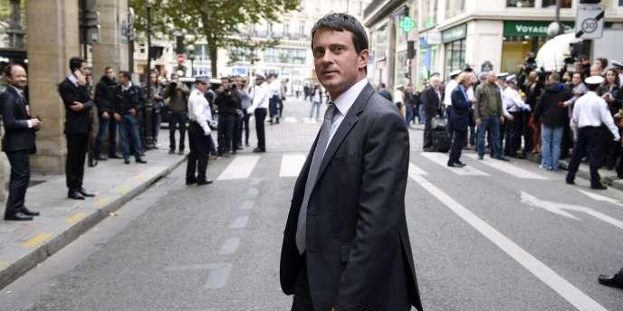 Manuel Valls, ministre de l'intérieur, le 3 octobre à Paris.