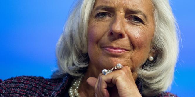 Christine Lagarde, directrice générale du Fonds monétaire international. En juin 2013, le FMI a admis qu'il aurait fallu restructurer la dette du pays dès 2010 : l'opération aurait été bien moins douloureuse pour Athènes.
