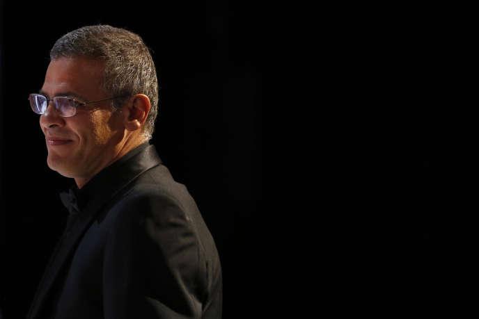 Abdellatif Kechiche lors de la remise de la Palme d'or à Cannes, le 26 mai 2013.