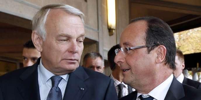 François Hollande et Jean-Marc Ayrault le 20 septembre à Paris.