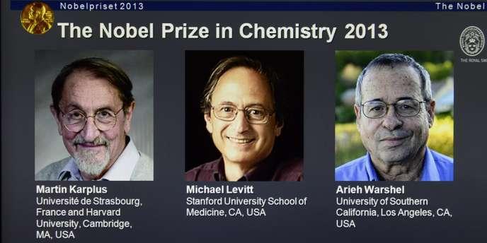 Le Nobel de chimie 2013 a été décerné mercredi à Martin Karplus, Michael Levitt et Arieh Warshel, spécialistes de la modélisation des réactions chimiques.