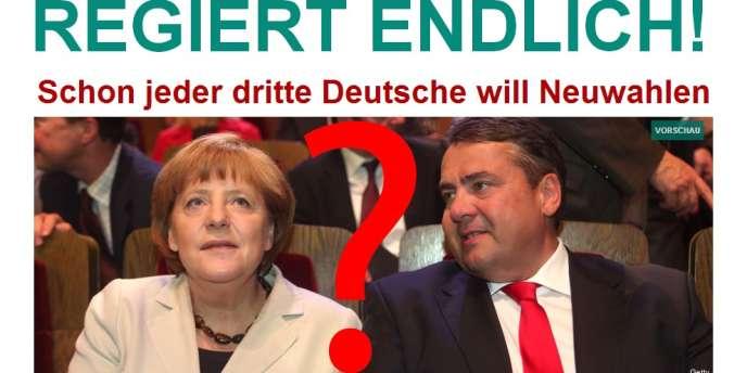 La page d'accueil de l'édition allemande du Huffington Post, jeudi 10 octobre 2013.