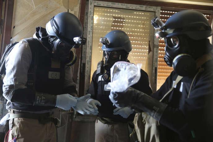 Des inspecteurs de l'ONU à Damas, le 29 août 2013.