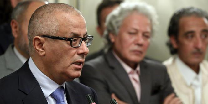 Le premier ministre libyen Ali Zeidan, lors d'une conférence de presse, le 11 octobre.