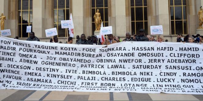 Une manifestation a été organisée le 12 octobre à Paris après la tragédie de Lampedusa.