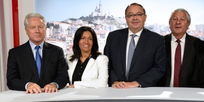 Samia Ghali et Patrick Mennucci (au centre), le 12 septembre.