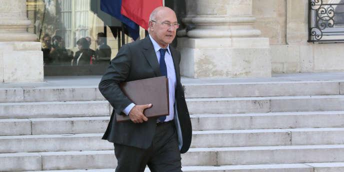 Michel Sapin, le ministre du travail, à l'Elysée le 25septembre2013.