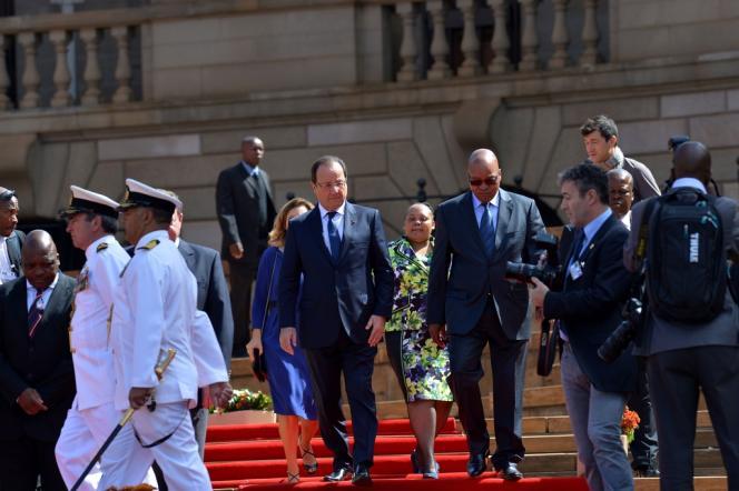 François Hollande et Jacob Zuma, le 14 octobre à Pretoria.