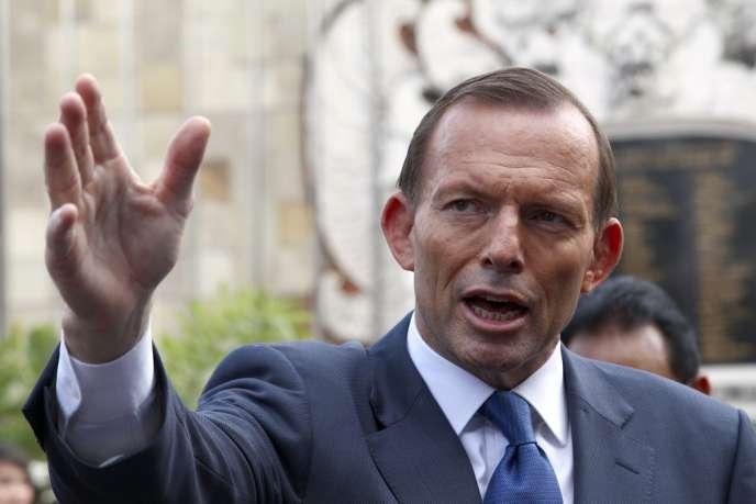 Le premier ministre australien, Tony Abbott, à Bali, en Indonésie, mercredi 9 octobre.