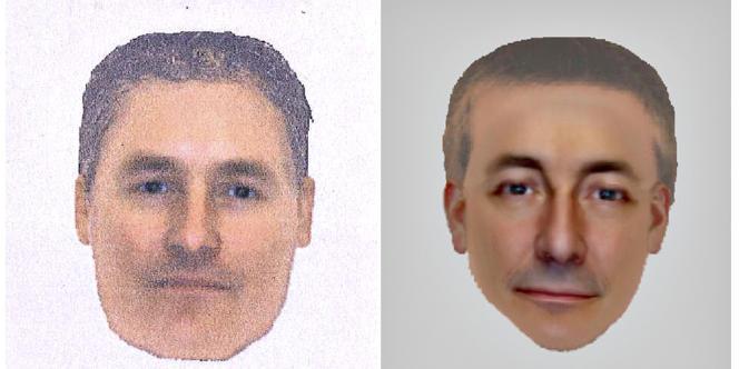 Ces deux portraits-robots d'hommes vus à Praia da Luz et aux alentours de cette station balnéaire ont été publiés par Scotland Yard afin