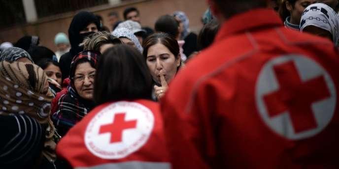 Une équipe de la Croix-Rouge en Syrie.