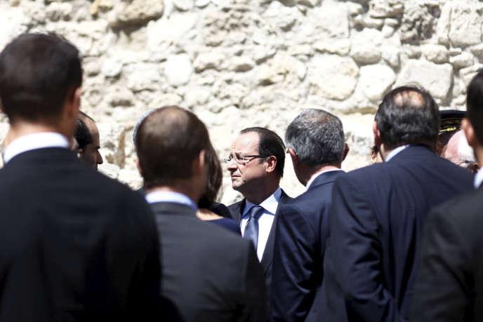 François Hollande, lors de l'inauguration du Mucem, à Marseille, le 4juin.