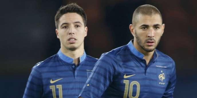 Samir Nasri et Karim Benzema, ici face à l'Australie le 11 octobre, affrontent la Finlande le 15 octobre.