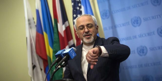 Le ministre iranien des affaires étrangères, Mohammad Javad Zarif, aux Nations unies, à New York, le 26 septembre.