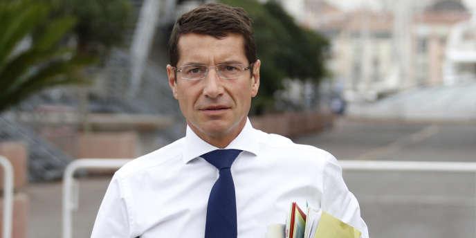 David Lisnard, le premier adjoint du maire de Cannes, Bernard Brochand, le 27 septembre.
