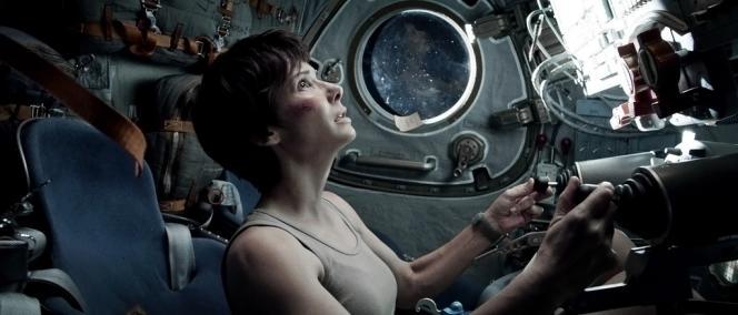 Sandra Bullock dans le film américain et britannique d'Alfonso Cuaron,