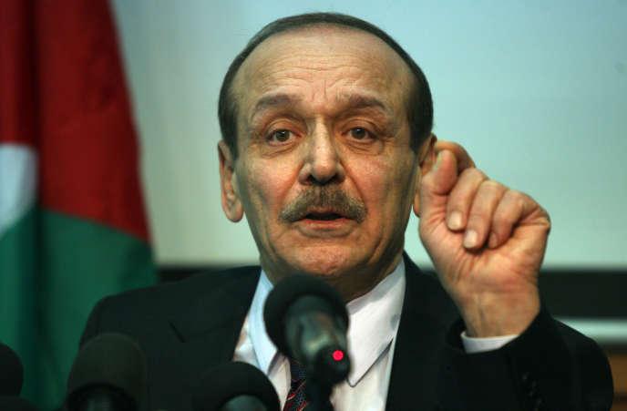 Yasser Abed Rabbo, ici en 2011 à Ramallah.