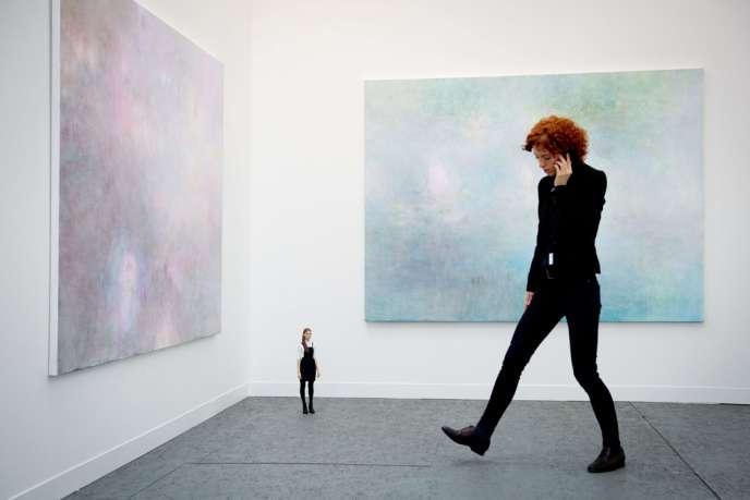 Foire Frieze Art de Londres, 16 octobre 2013 : deux toiles de Dee Ferris,