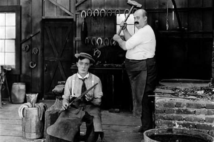 Buster Keaton et Joe Roberts dans