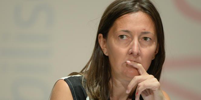 La députée Karine Berger, à l'Université d'été du PS à La Rochelle, le 24 août 2013.