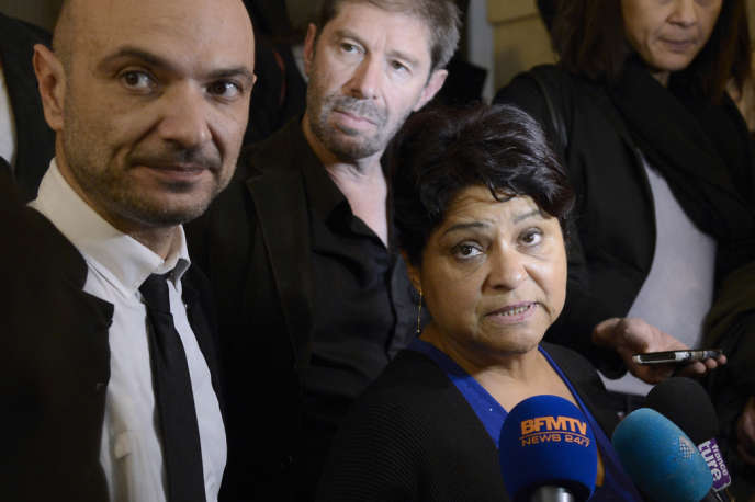 La directrice de la crèche privée Baby-Loup de Chanteloup-les-Vignes, Natalia Baleato, au palais de justice de Paris, le 17 octobre.
