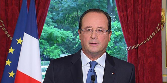 Le président François Hollande lors de son intervention télévisée, le 19 octobre 2013.