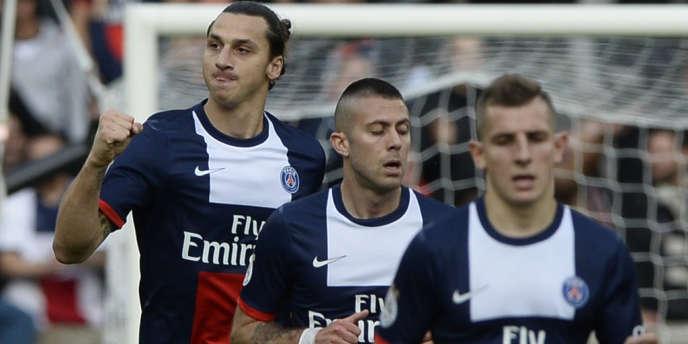 Les joueurs du PSG, samedi 19 octobre au Parc des Princes face à Bastia.