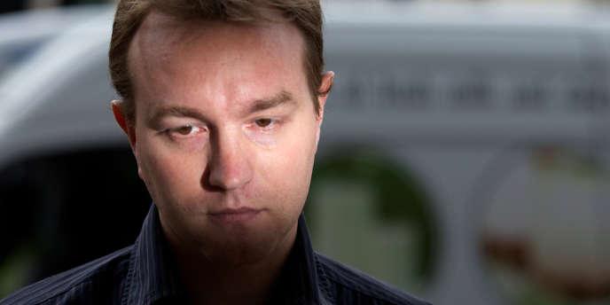 Tom Hayes, soupçonné de fraude et de collusion, dans le scandale de la manipulation du taux interbancaire londonien Libor, a été arrêté, à Londres, le 11 décembre 2012.