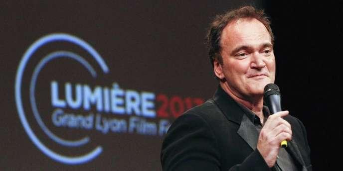 Lors de la 5e édition du Festival Lumière, à Lyon, Quentin Tarantino reçoit le prix Lumière, le 18 octobre 2013.