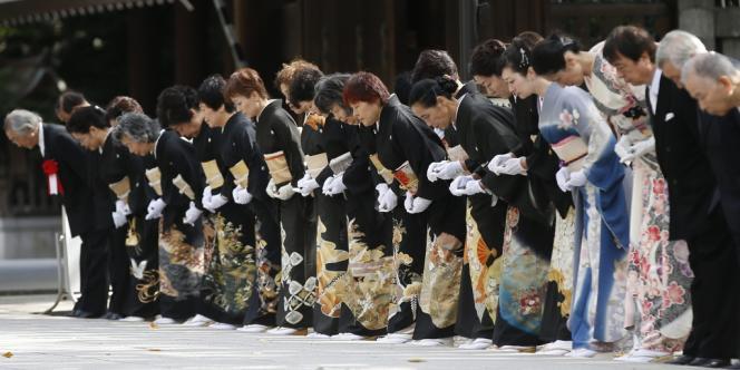 Au sanctuaire Yasukuni, pendant le festival d'automne, le 18 octobre à Tokyo.