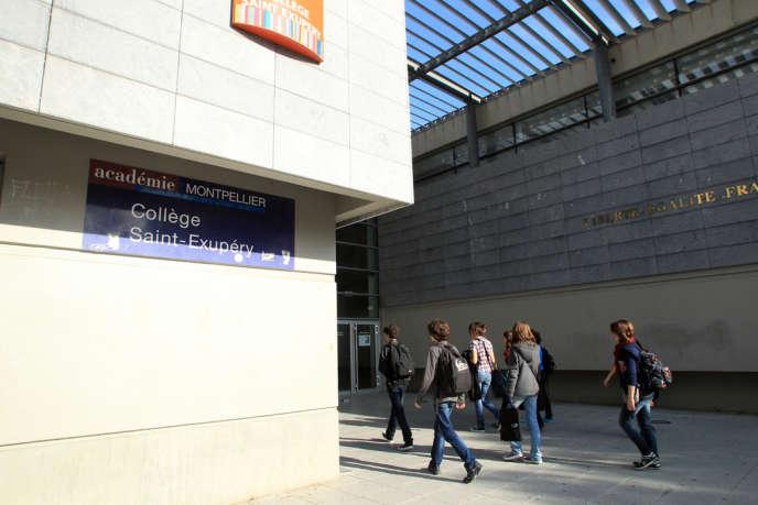 Au collège Saint-Exupéry à Perpignan, le 17 octobre.