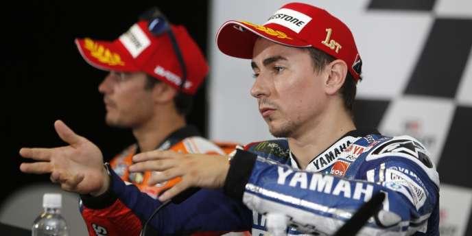 L'Espagnol Jorge Lorenzo a remporté, dimanche 20 octobre, le Grand Prix de moto d'Australie.