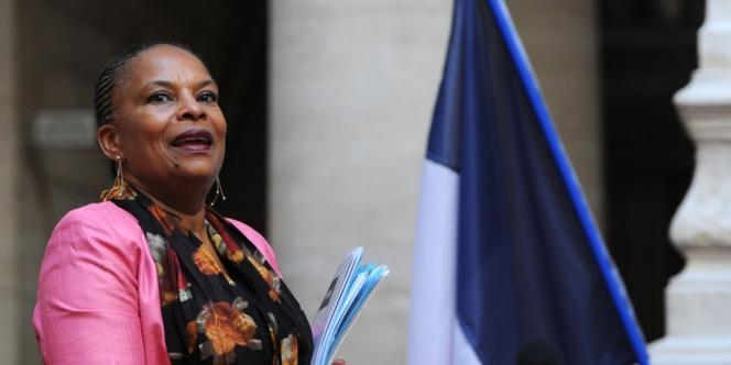 La garde des sceaux, Christiane Taubira, le 11 octobre 2013 à Aix-en-Provence.