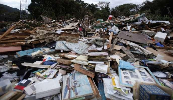 De l'eau de pluie contaminée s'est peut-être écoulée dans l'océan Pacifique après le passage du typhon Wipha.