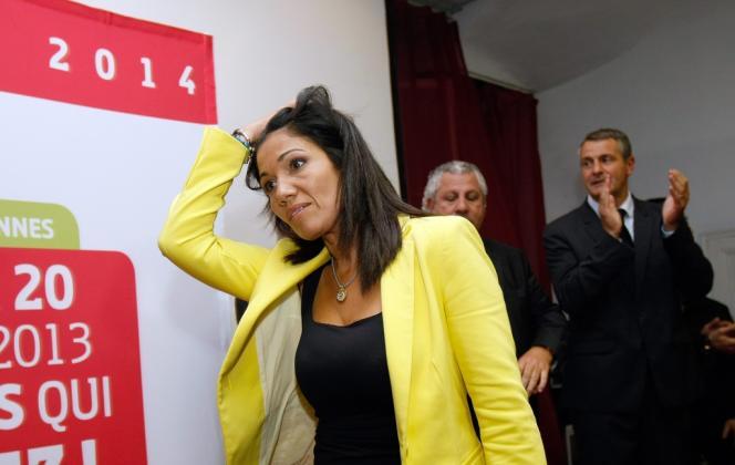 La sénatrice socialiste des Bouches-du-Rhône, Samia Ghali, en octobre 2013 à Marseille.