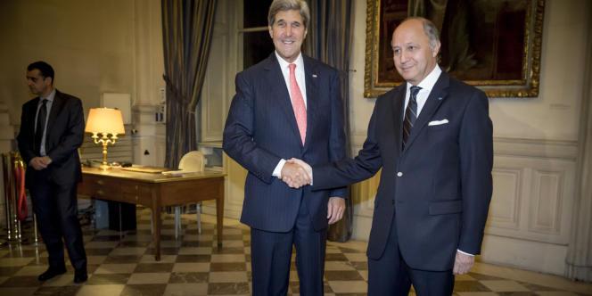 John Kerry et Laurent Fabius, le 22 octobre.