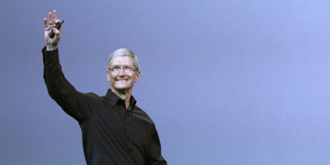 Tim Cook, le 22 octobre lors de la keynote d'Apple.