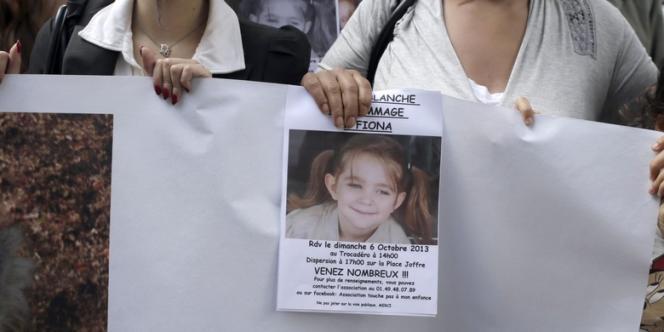 Lors d'une manifestation en mémoire à la jeune victime, le 6 octobre à Paris.
