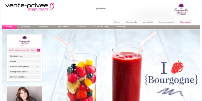Le site Miam Miam est, sur Vente-privée.com, le portail dédié aux gourmands.
