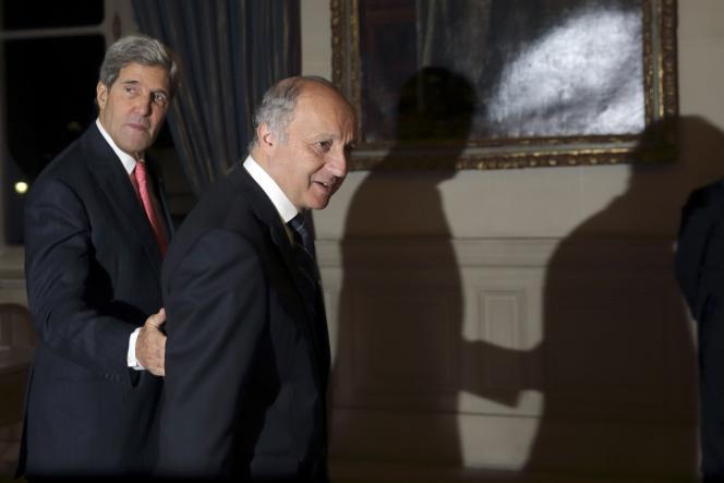 John Kerry et Laurent Fabius, le 22 octobre 2013 à Paris.
