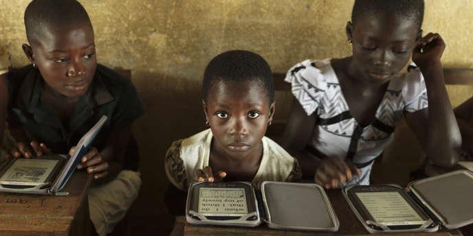 Dans une école Bridge International Academy au Ghana.