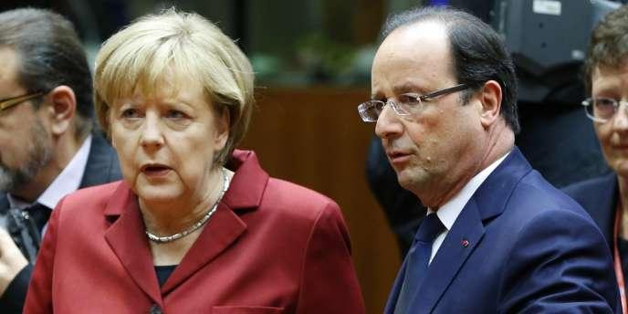 Angela Merkel et François Hollande au sommet européen du 24 octobre 2013.