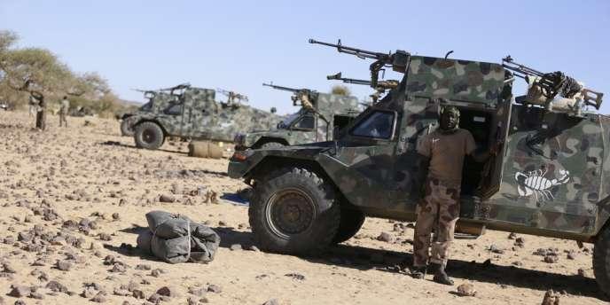 Soldats tchadiens en poste dans le nord du Mali, enmars2013.