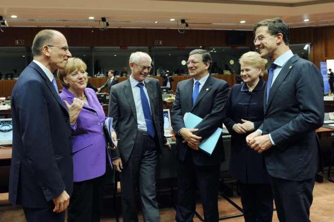 Au Conseil européen, le 25 octobre à Bruxelles.