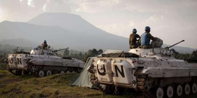 Des soldats de la Monusco à Kibati, près de Goma, le 13 août 2013.