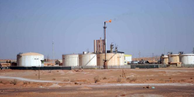 Site pétrolier près d'In Amenas, du côté de la frontière libyenne en Algérie.