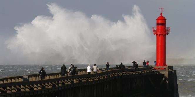 La tempête Christian à Boulogne-sur-Mer le 28 octobre 2013.