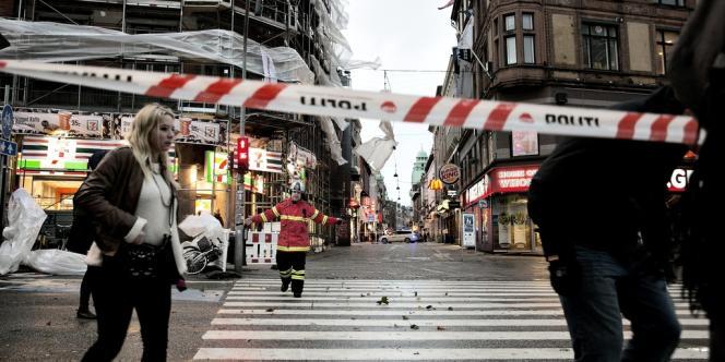 Le centre de Copenhague, touché par la tempête Christian, lundi 28 octobre.